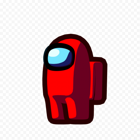 Red among us character high quality png free download