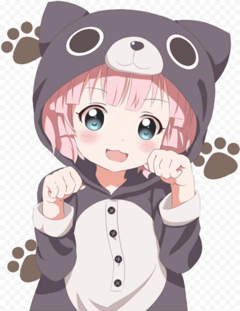kawaii anime girl png   Free PNG Images