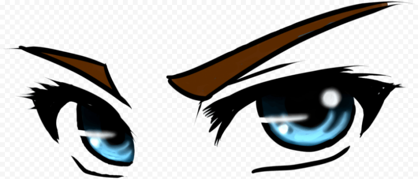 anime eye transparent PNG image with transparent background