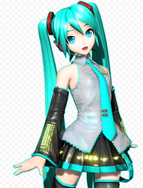 Miku Hatsune PNG Pic Background Free download anime png