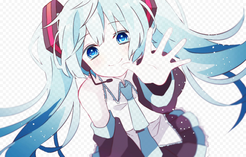 Miku Hatsune PNG Transparent File Free download anime png