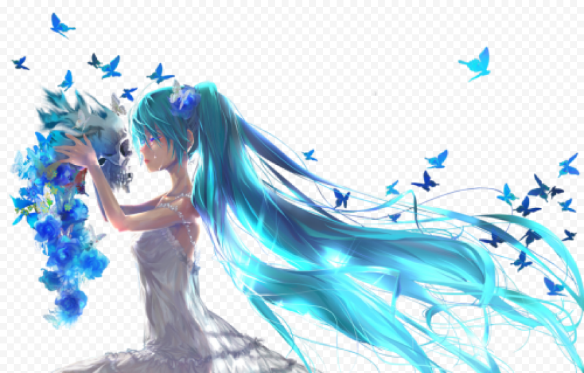 Miku Hatsune PNG Clipart Background Free download anime png