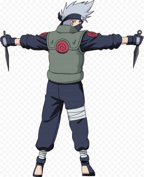 Kakashi Transparent Background anime png stickers,