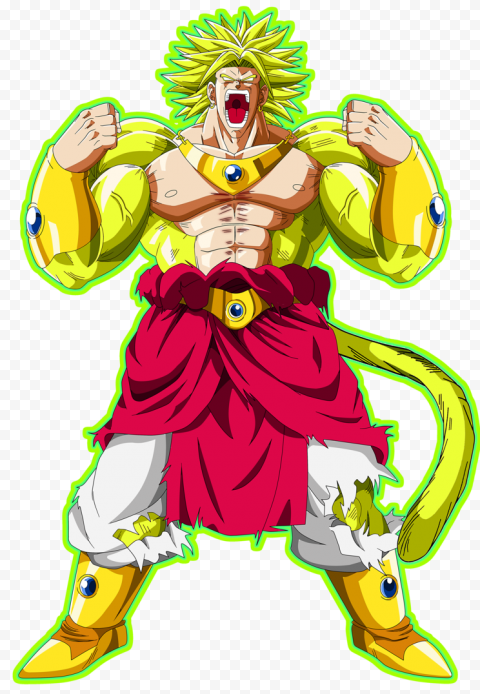 Dragon Ball Broly PNG Transparent Picture free png image anime for download