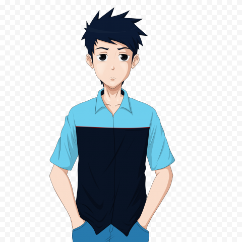 Anime Character Boring Free PNG