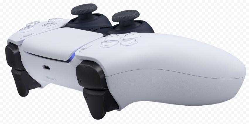 PS5 Controller Transparent white color