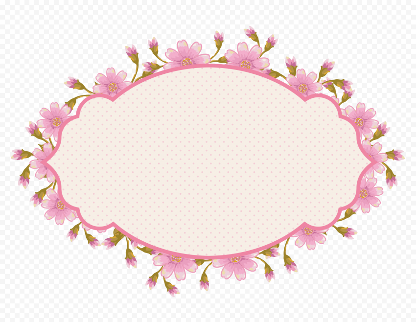 A flower circle frame clipart PNG
