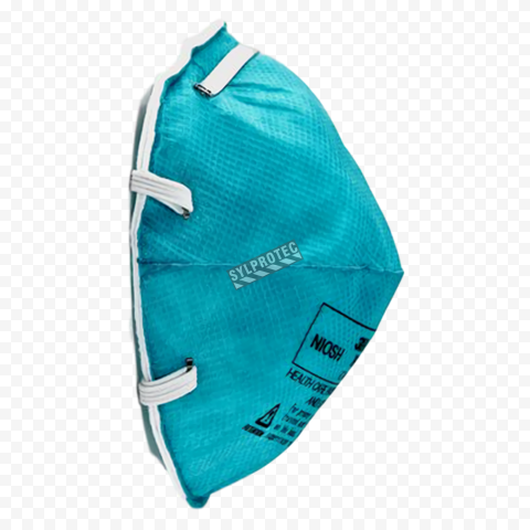 n95 surgical mask doctor blue and green