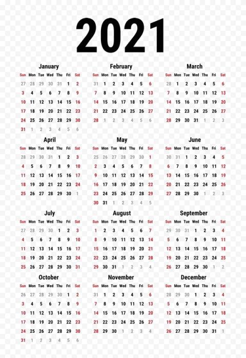 Calendar 2021 PNG Clipart Free download