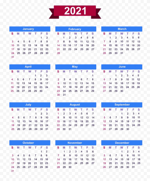 Calendar 2021 PNG Free Download Free download