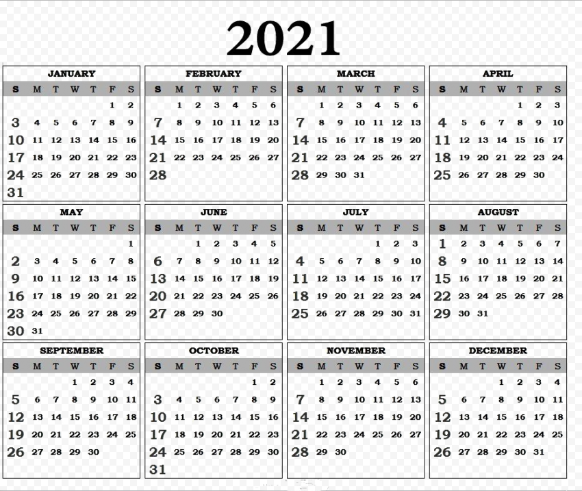 Calendar 2021 PNG Picture Free download