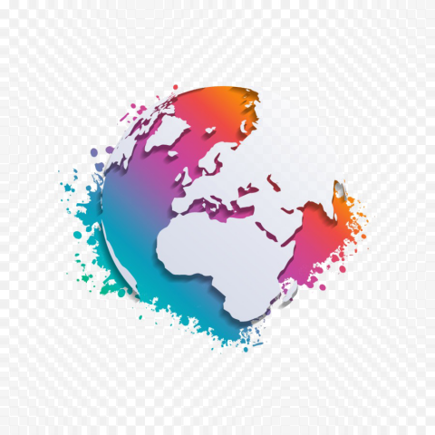 Abstract World Map Transparent PNG Free download