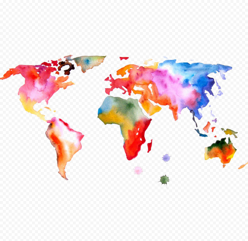 Abstract World Map PNG File Free download