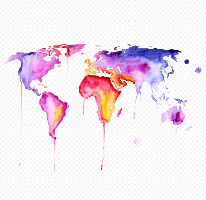 Abstract World Map PNG Clipart Free download