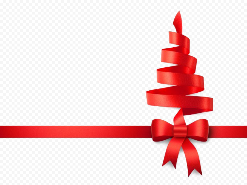 Red Christmas Ribbon Background PNG Free download