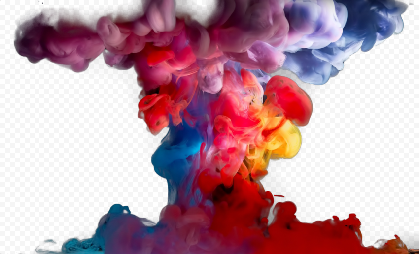 Colorful Smoke PNG Transparent Image Free download