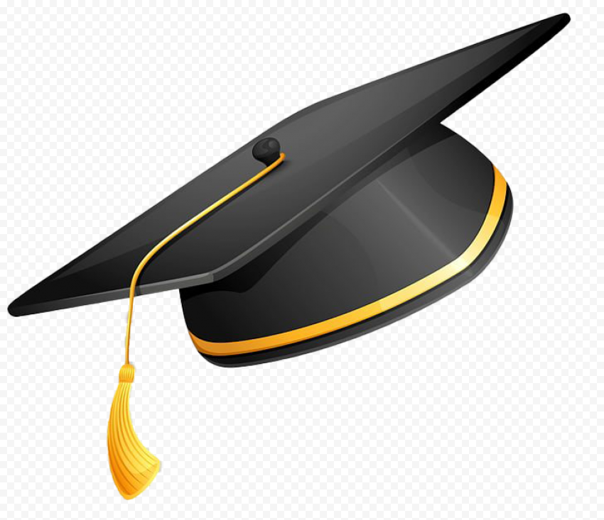 Academy Hat PNG Transparent Picture   graduation hat drawing