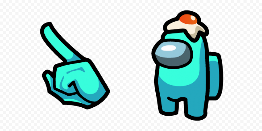 among us character in egg hat pack