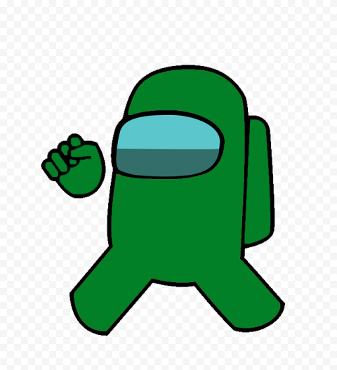among us character green free png