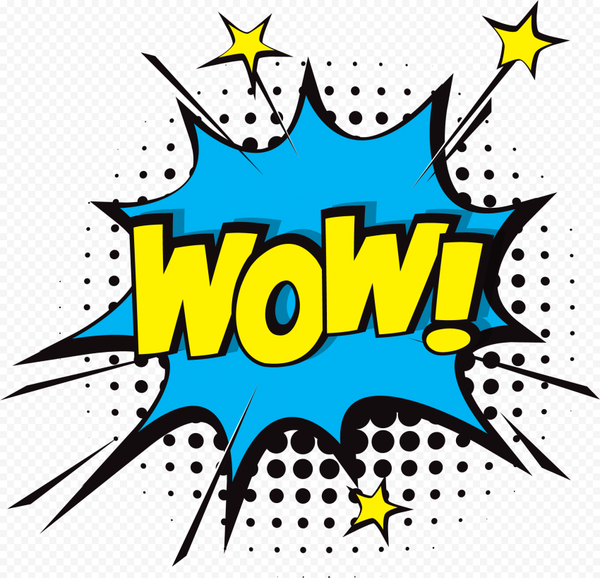 Comic WOW PNG Picture