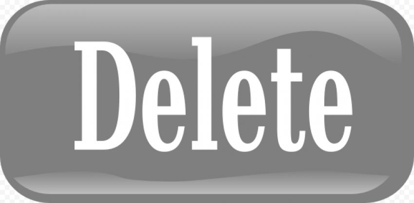 Delete Button Transparent PNG FREE DOWNLOAD