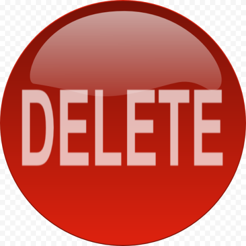 Delete Button PNG Free Download FREE DOWNLOAD