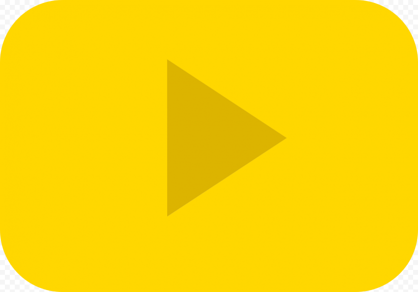 YOUTUBE Gold Play Button PNG File