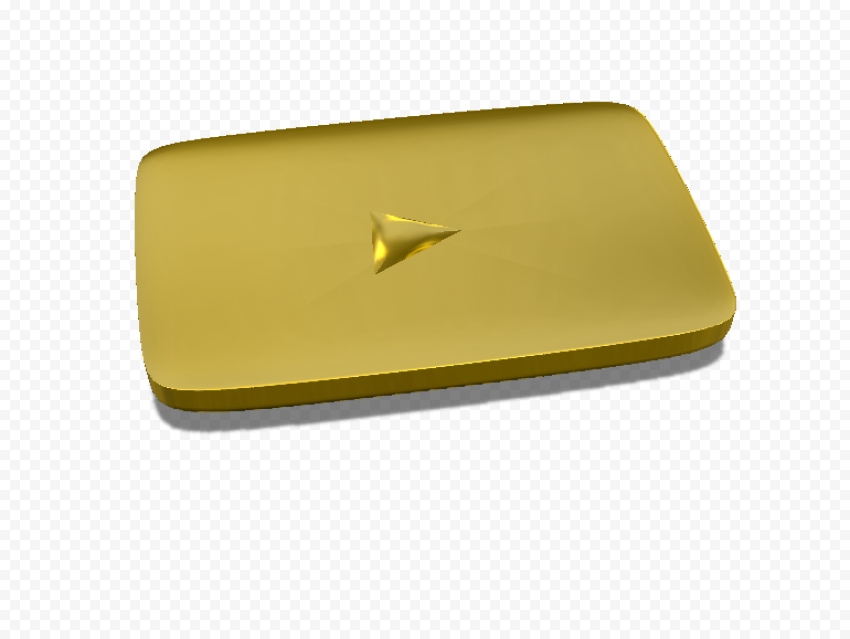 YOUTUBE Gold Play Button Transparent PNG FREE DOWNLOAD