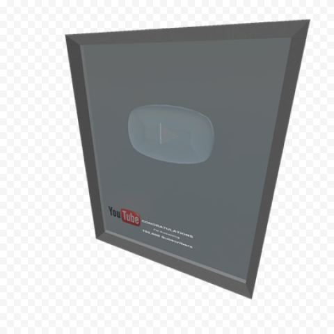 YOUTUBE Silver Play Button PNG File