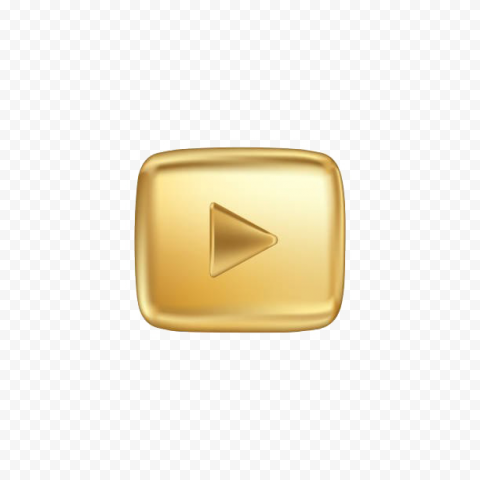 YOUTUBE Gold Play Button PNG HD