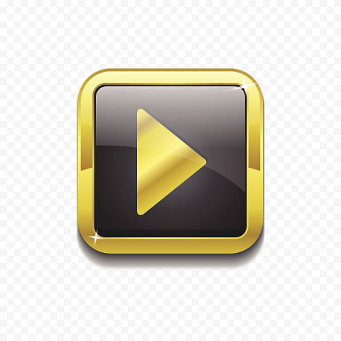 YOUTUBE Gold Play Button PNG Pic