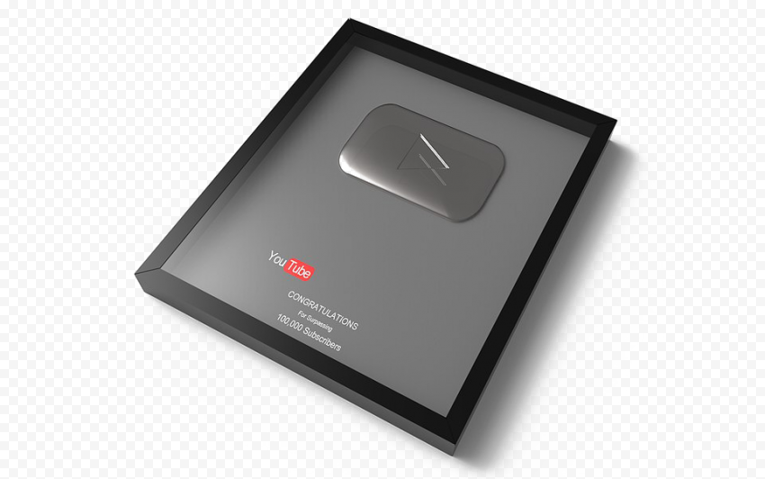 YOUTUBE Silver Play Button PNG Image