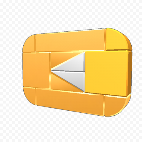 YOUTUBE Gold Play Button Transparent Background