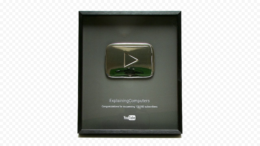 YOUTUBE Silver Play Button PNG Clipart