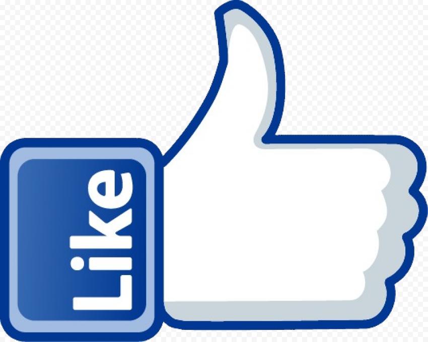 Facebook Like PNG Transparent Image