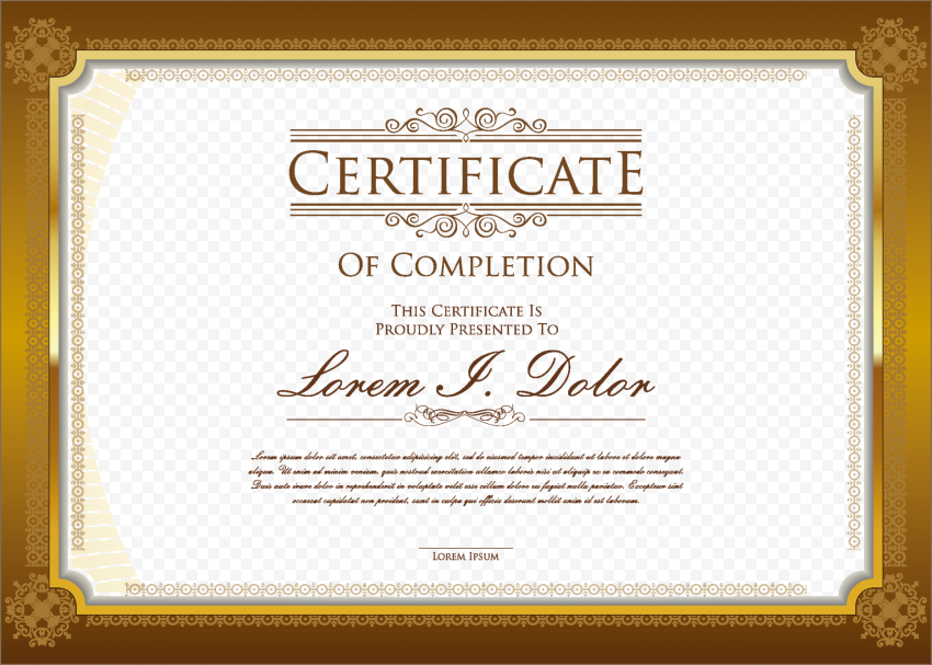 Certificate PNG Pic png FREE DOWNLOAD