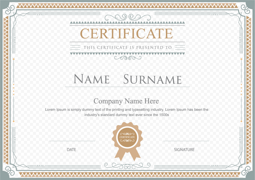 Certificate PNG HD png FREE DOWNLOAD
