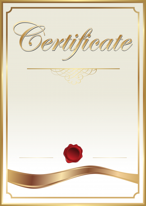 Certificate PNG File png FREE DOWNLOAD