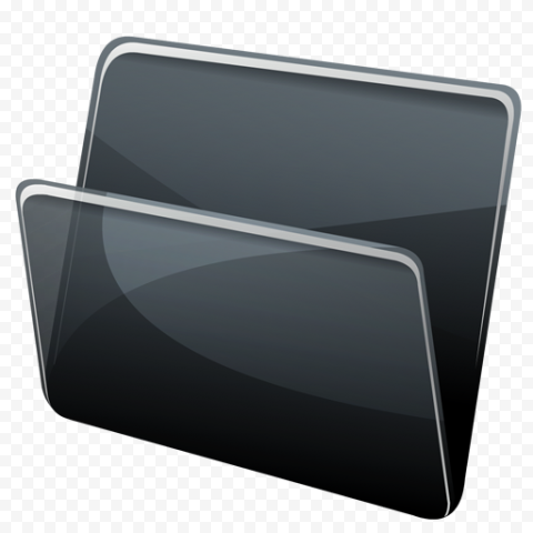 Black Folder PNG png FREE DOWNLOAD