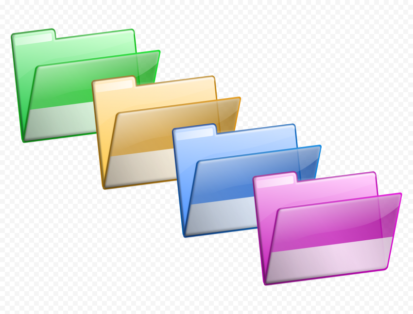 Colorful Folder PNG png FREE DOWNLOAD