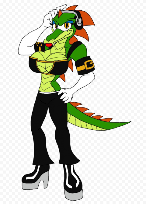 Vector The Crocodile Sonic PNG Clipart