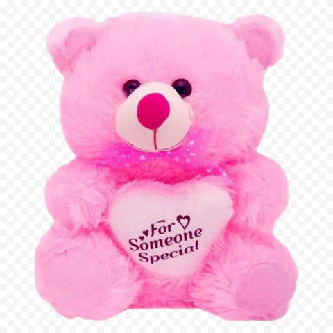 Pink Teddy Bear PNG Clipart