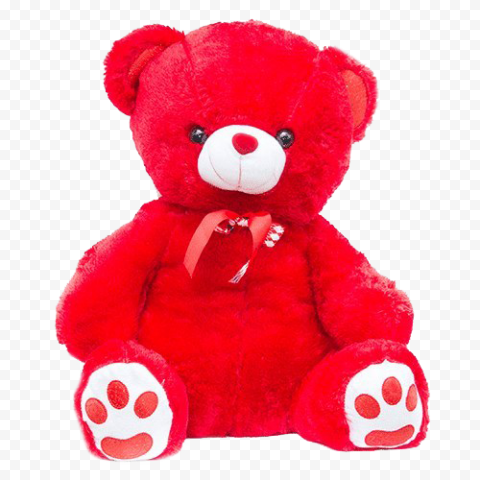 Red Teddy Bear Transparent Background