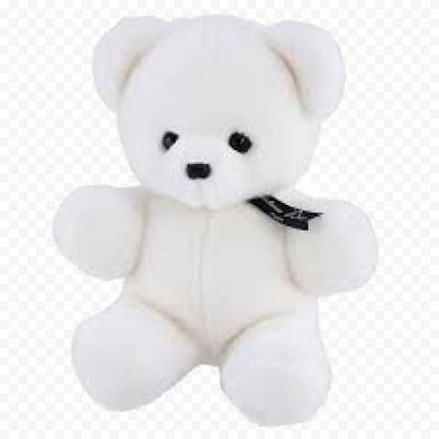 White Teddy Bear PNG Free Download
