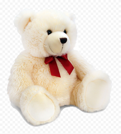 White Teddy Bear PNG Photo