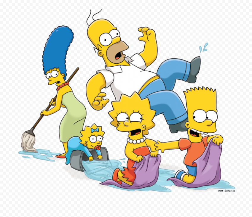 The Simpsons PNG HD  anime free png images