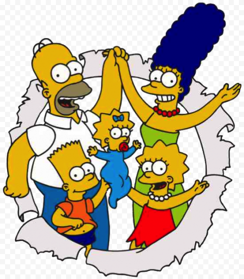 The Simpsons PNG Image  anime free png images