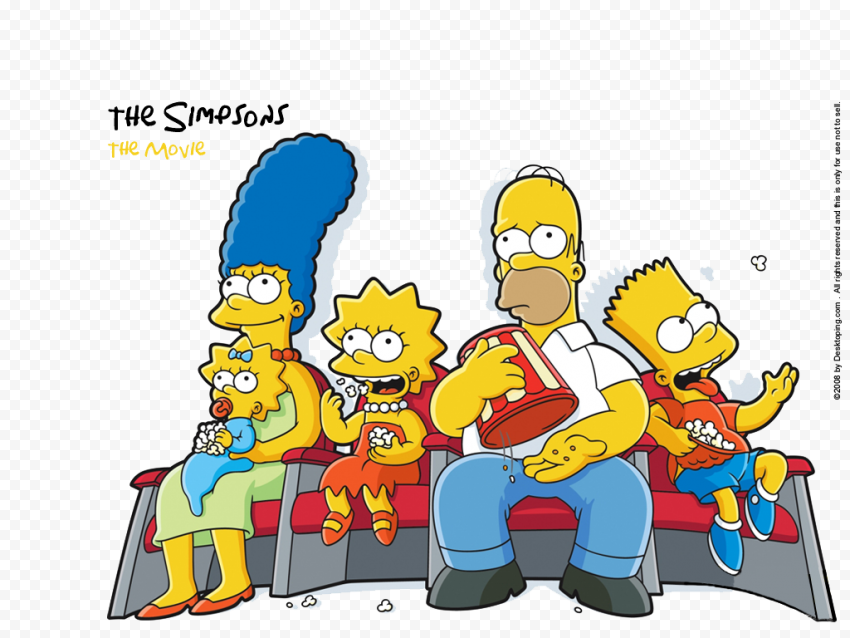 The Simpsons Transparent PNG  anime free png images