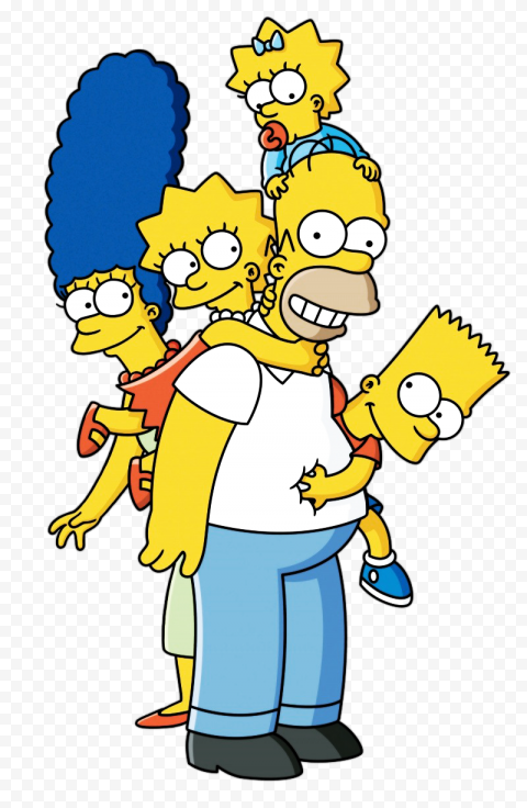 The Simpsons PNG File  anime free png images