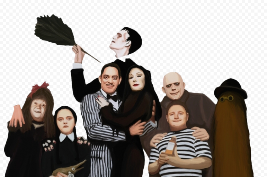 The Addams Family Character PNG Photos
